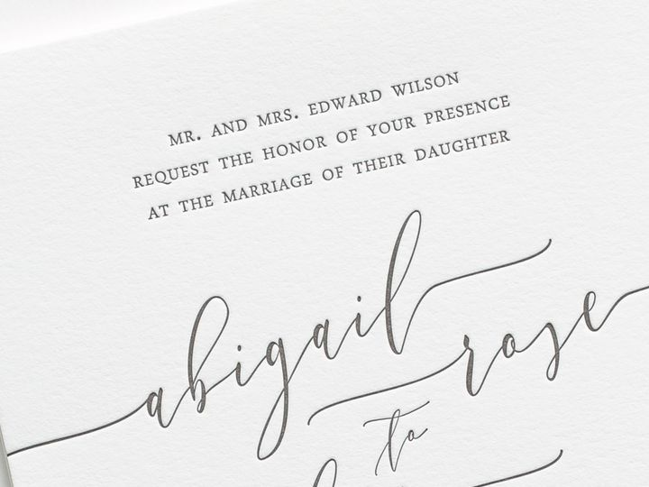 Tmx Romantic Calligraphy Letterpress Wedding Invitations 2 51 410067 Rochester, New York wedding invitation