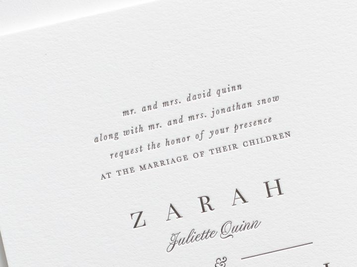 Tmx Zarah Letterpress Wedding Invitations 2 51 410067 Rochester, New York wedding invitation