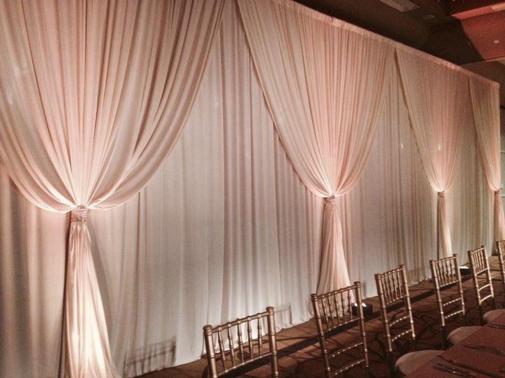 Draping with Uplights