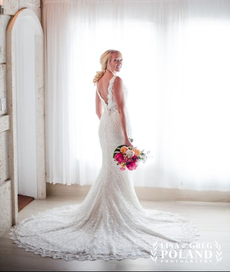 Bride in Main Lodge