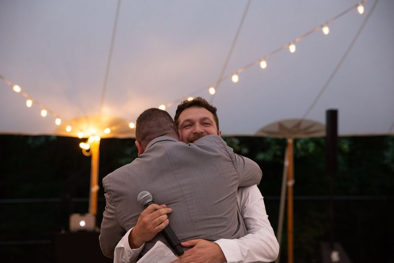 Best man hug