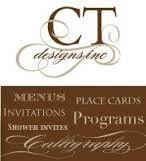 ct designs calligraphy wedding stationery