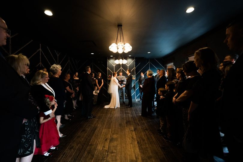 A moody & modern ceremony