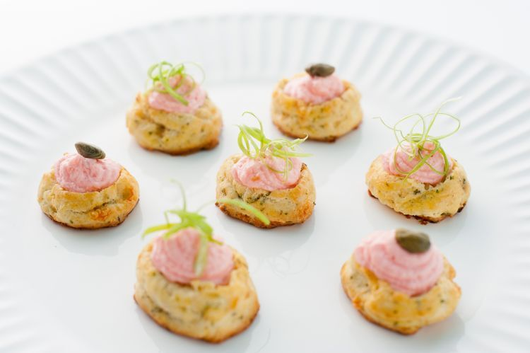 Salmon mousse hors d'oeuvres