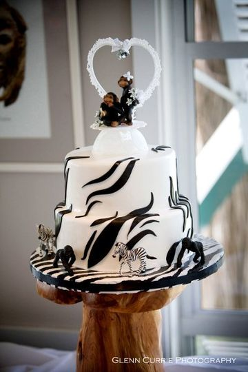 3 tiered cake- Zoo theme made by Sweet Cheeks Bakery