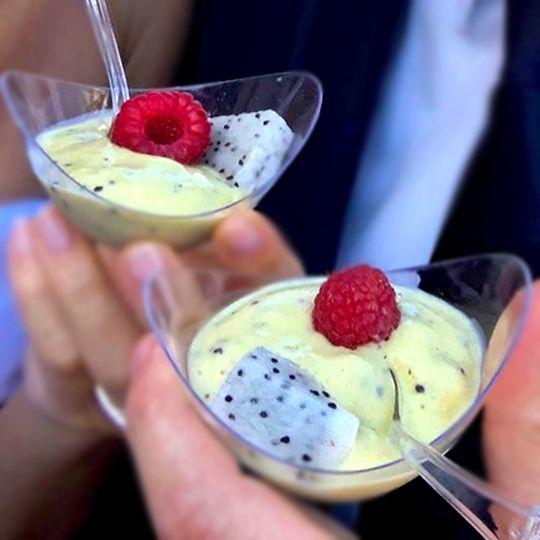 Banana Kiwi Pudding Cups