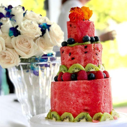 Watermelon Based Fruit Cake