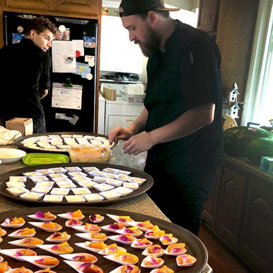 Chef Canaan working hard