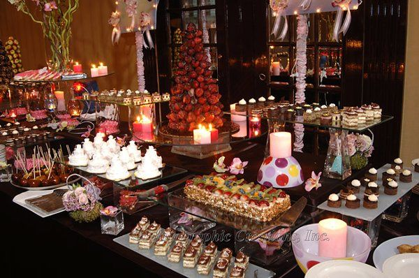 Sweets and cupcake station