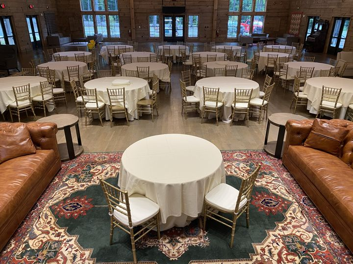 Gold chivari chairs & tables