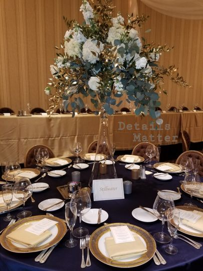 Formal centerpieces and place settings