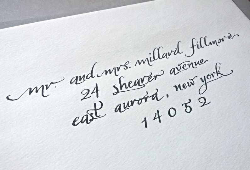 Penned And Inked Calligraphy Services Invitations