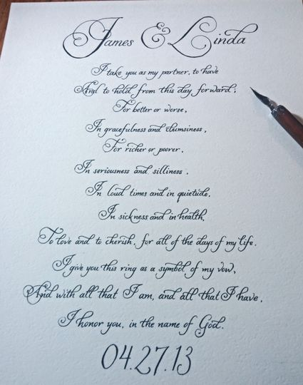 Wedding vows are fully customizable
