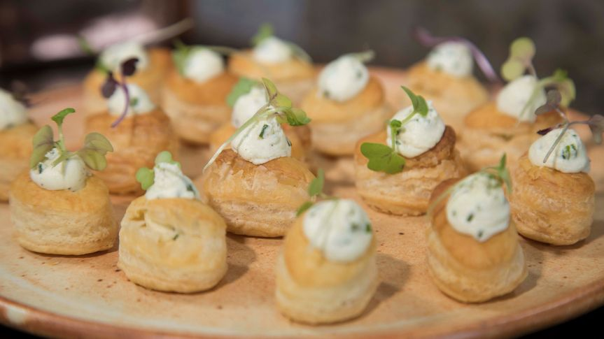 Goat Cheese Mousse Puffs