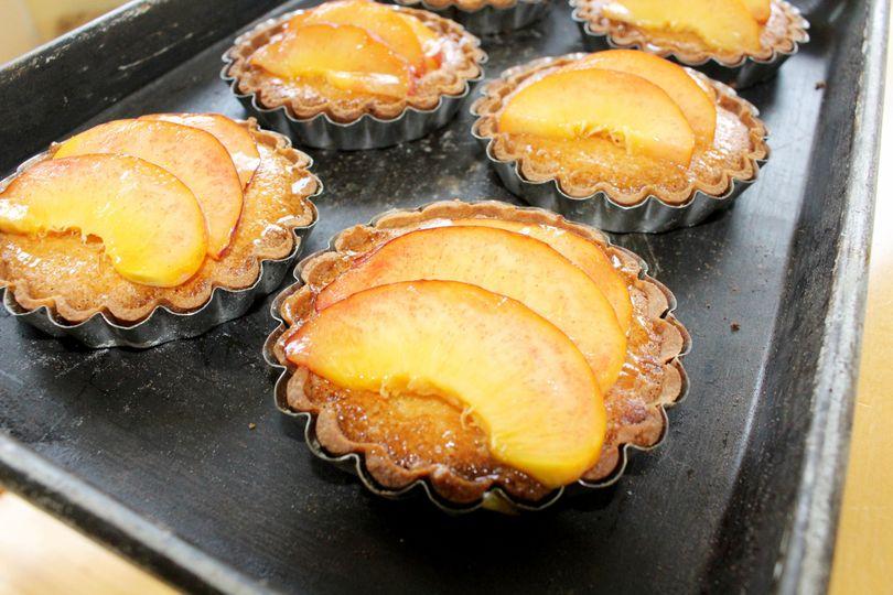 Frangipane peach tarts