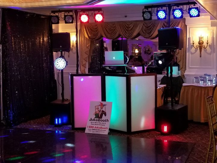 Dj wedding set-up