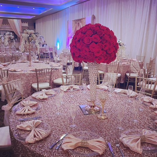 Floral and linens