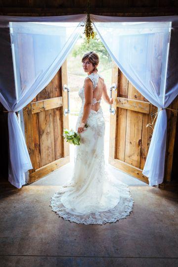 Bridal portrait in venue