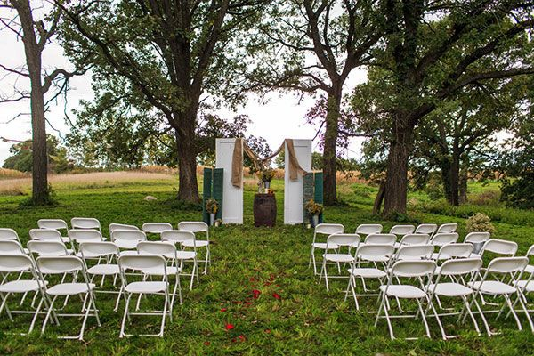 Wedding set up at the Pond Amphitheater