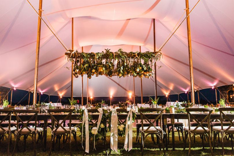sailcloth tent lighting ideas