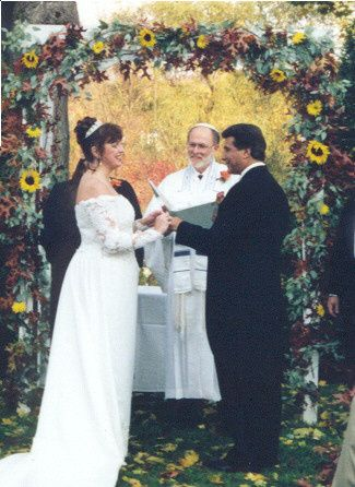 Rabbi Roger Ross and a Halloween Wedding at Crabtree Kittle House.