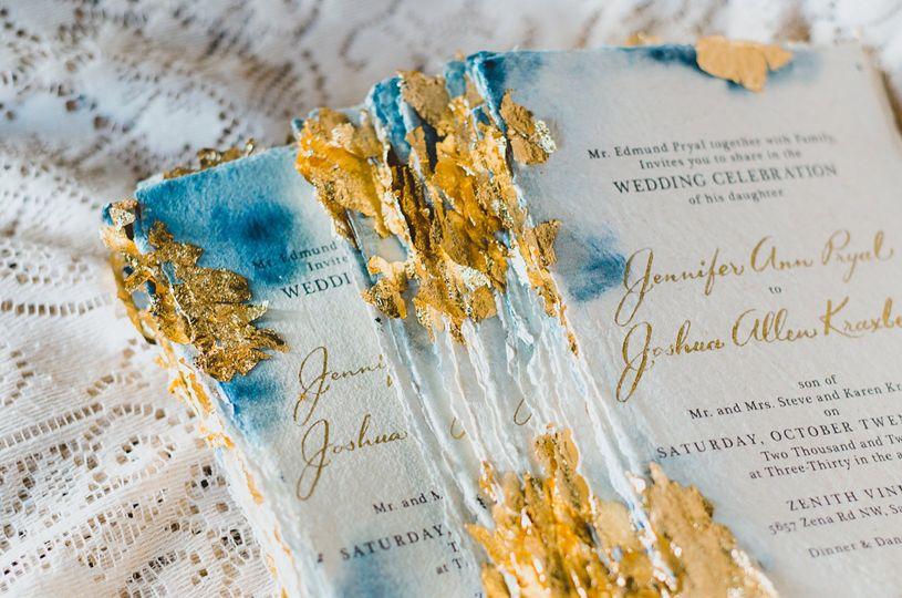 Jennifer to Joshua | Gold Leaf
