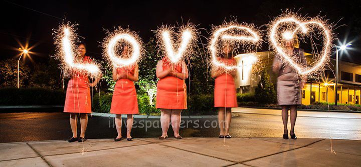 Love and heart sparklers