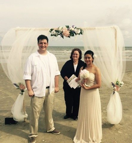 On May 14,2016, Mr and Mrs Landry chose to be married on the beach.  Not only were they pronounced...