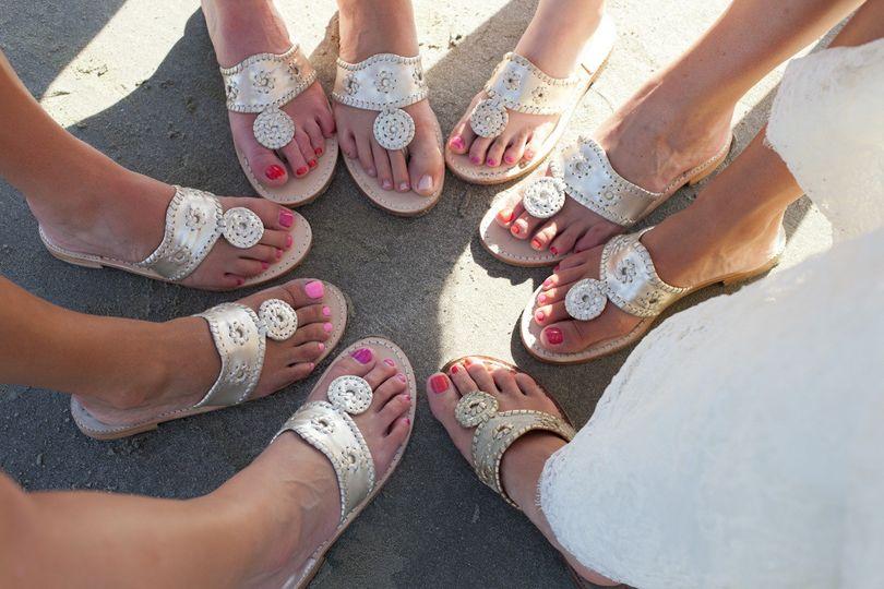 Bridal party sandals