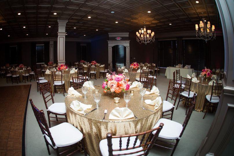 The ballroom banquet setup
