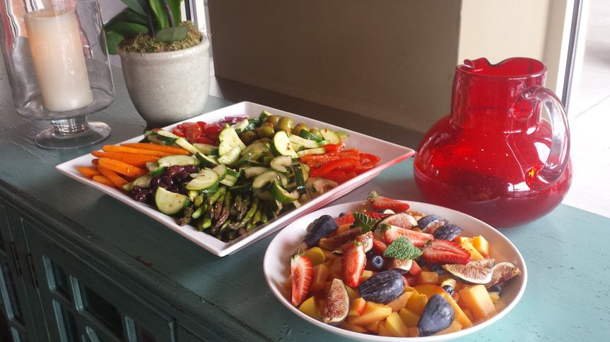 Seasonal Fruits and Seasonal Marinated Vegetables