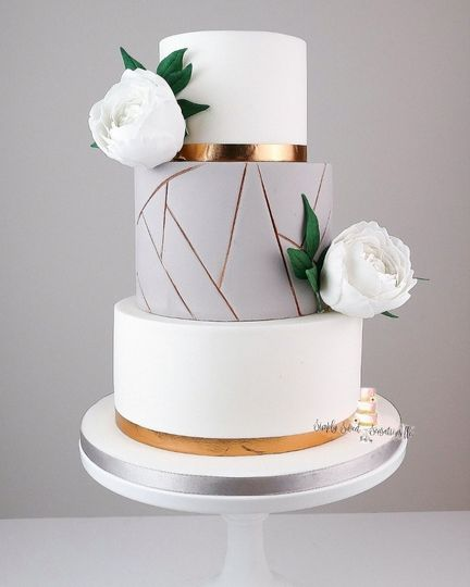 Geometric buttercream cake