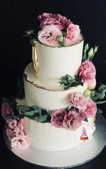 3 Tier White Chocolate Wedding