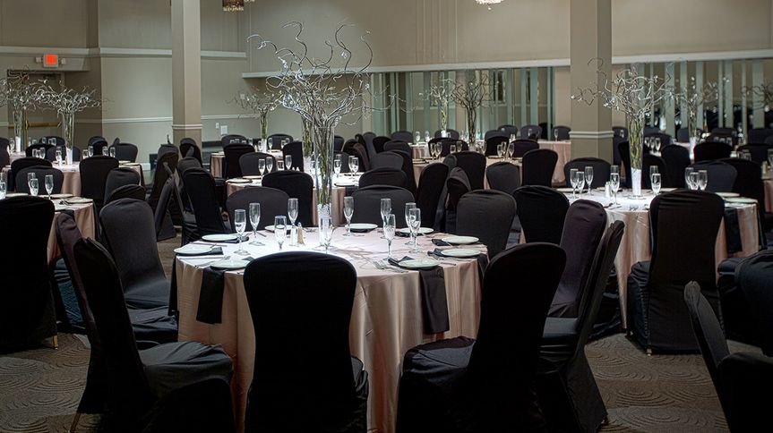 Black chair covers and decor