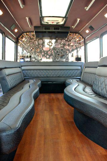 Inside 16 passenger bus