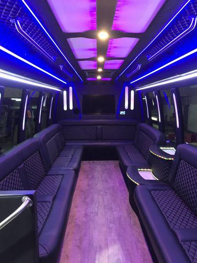Inside 20-24 passenger bus