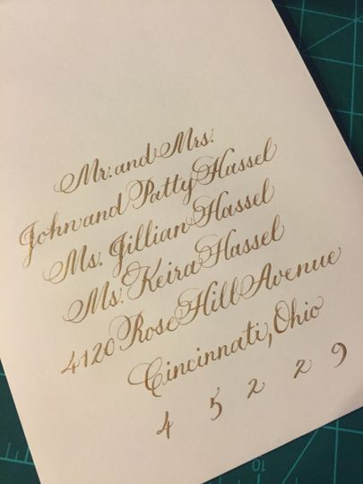More gold lettering. I think gold has been the 'hot' color lately.