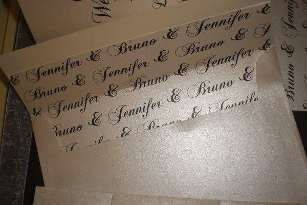 Custom Wedding Envleope Liner