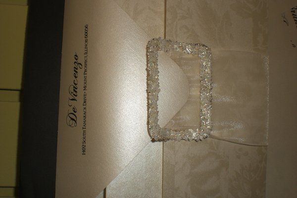 Custom Wedding Invitation. Beautiful Metallic Quartz papers with Stark Black Ink and Special Fonts....
