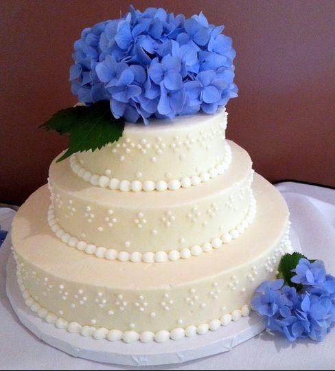 hydrangea cheesecake