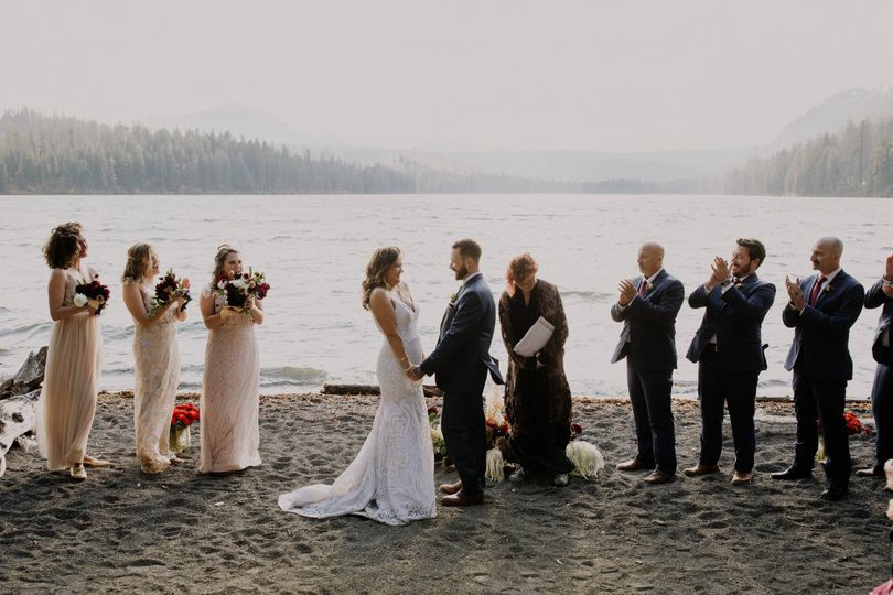 Ceremony on osprey beach
