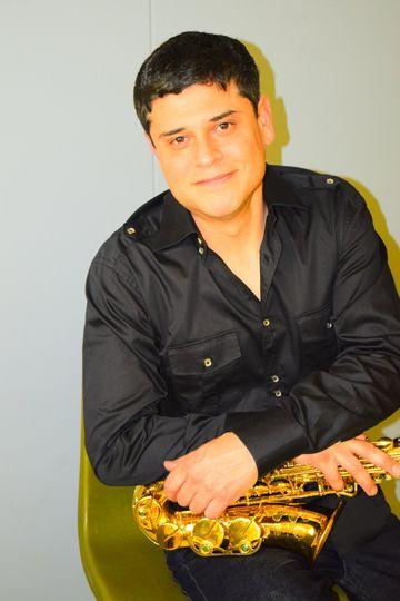 Portrait of saxophonist