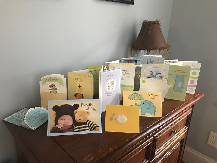 Cards from baby shower