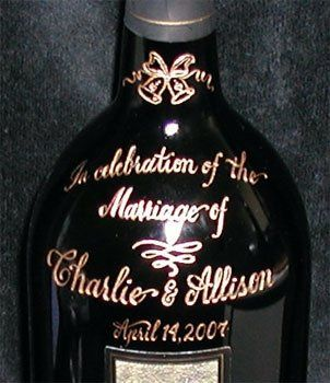 Gifts of engraved wine bottles to celebrate the occasion!
