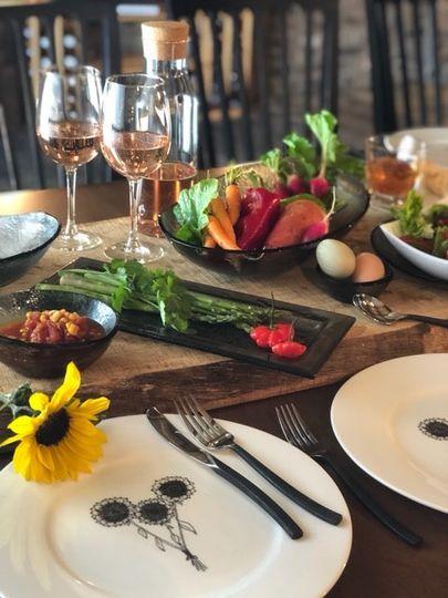 Wine Cellar - table setup