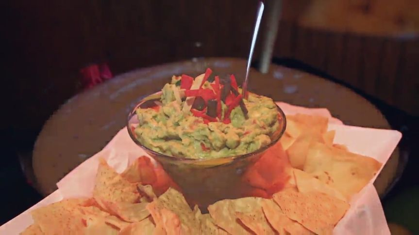 Chips and delectable guacamole