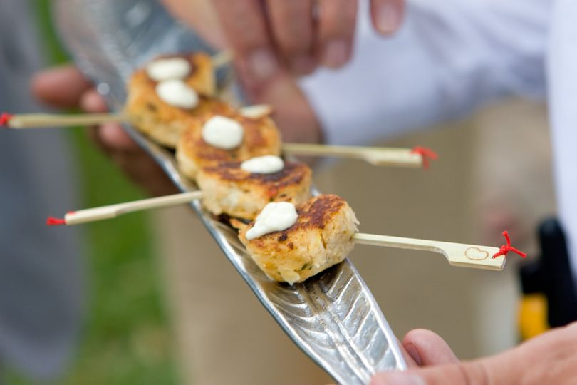 Mini Blue Crab Cakes with spicy remoulade sauce