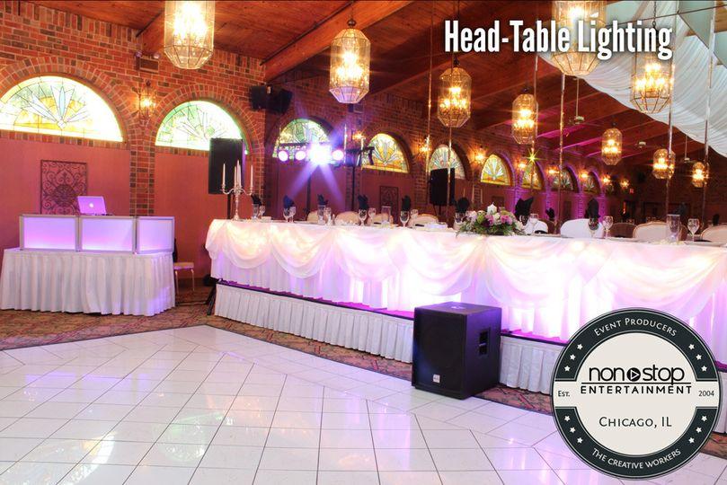 Head table lighting