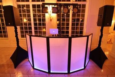 Basic DJ booth setup