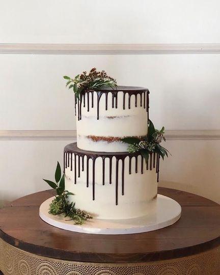 2-tier chocolate drip cake